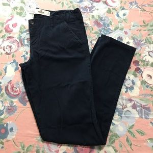 Hollister skinny navy blue chino pant 7R inseam 31
